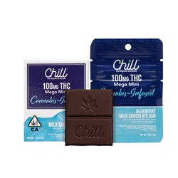 Chill Mega Mini Blueberry Milk Chocolate 100mg